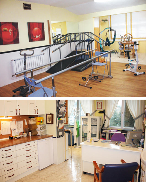 gimnasio y enfermería de la residencia